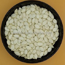 Different types of fresh snow white pumpkin seeds