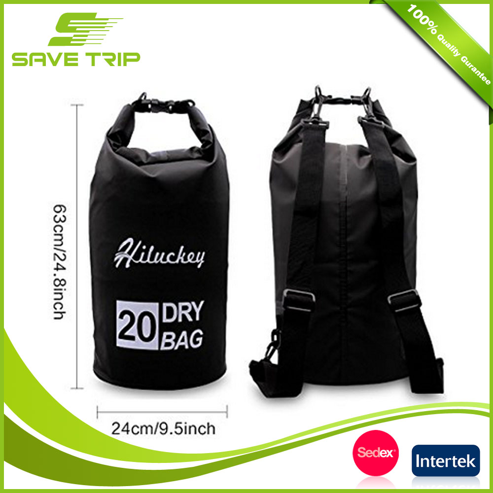 Leader Accessories Camping Equipment China 100% Waterproof 250D 500D PVC Dry Bag Rucksack Keep Gear Dry with Shoulder Strap