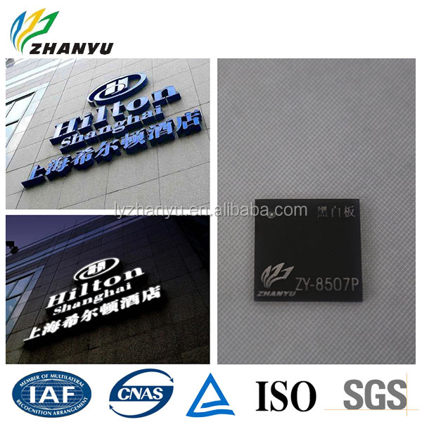 New Material Weather Resistance LED Backlit Acrylic Board 3D Logo Hang Day Night Black White Acrylic Sheet