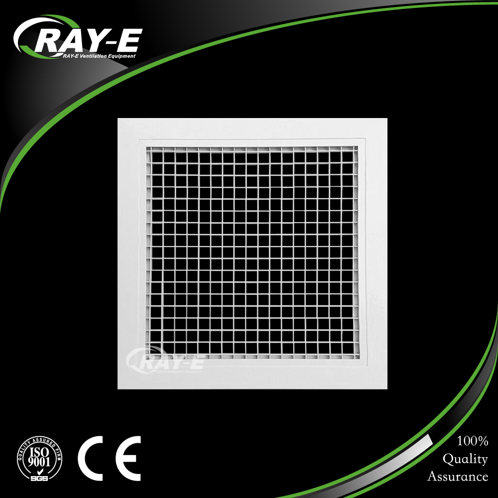 HVAC system ceiling square air diffuser removable core egg crate air grille