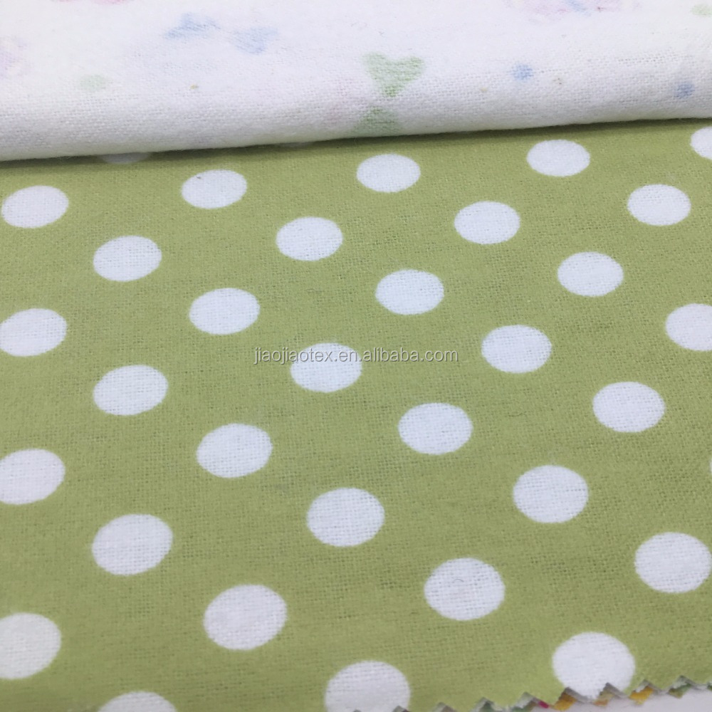 100% cotton printed fabric flannel