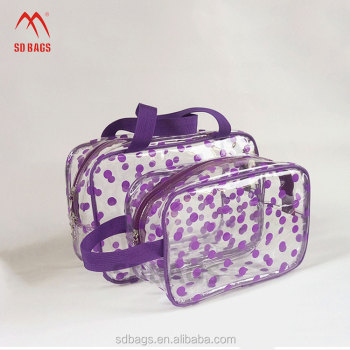 Hot sale high quality with zipper clear transparent newest custom pvc bag with zipper