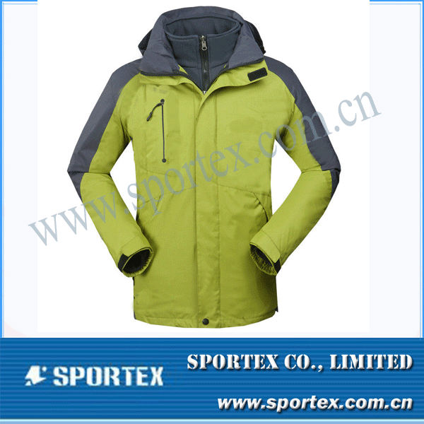 New Men Waterproof Windproof Soft Shell Yollow/ Grey Outdoor Jacket MZ0077