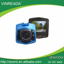 "High speed recording car camera dvr recorder traveling data recorder with 2.4"" LCD"