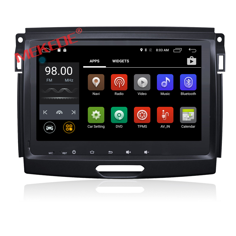 8 inch Android 7.1 Car DVD GPS navigation audio For Ford RANGER 2015 2016 with 4G wifi BT DVR dvd player 2GRAM 1024*600
