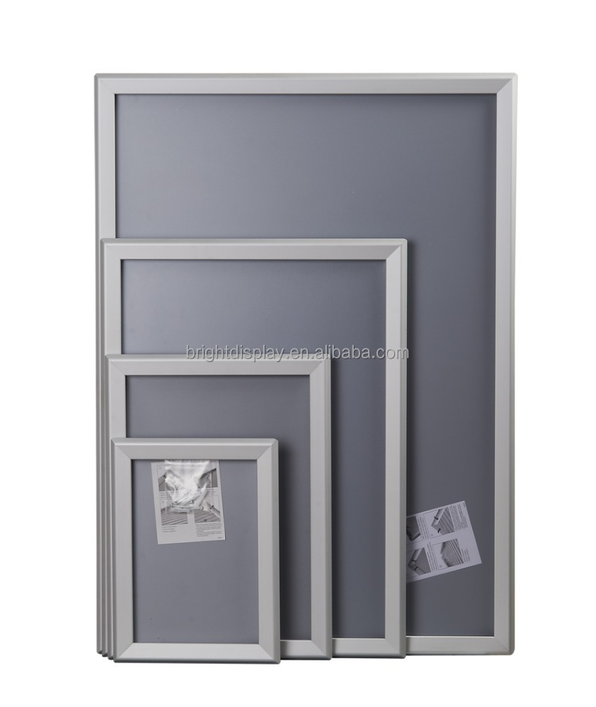 Customized metal hanging <strong>a0</strong> Poster Snap <strong>Frame</strong> Hotel, subway station use hot sale Promotion aluminum 25mm/32mm poster <strong>frame</strong>