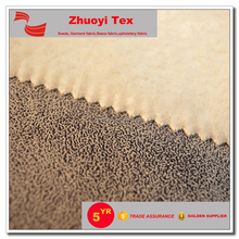 suede bond with fur fabric for garment