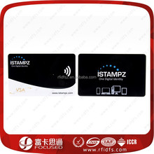 13.56mhz Cheap plastic rfid smart contactless card printer/nfc business card