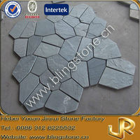 Green slate natural stone paving for floor