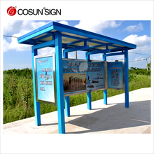 outdoor urban advertising street furniture metal bus stop shelter