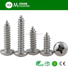 Stainless Steel Phillips Round Head Self Tapping Screw DIN7981