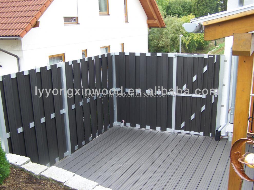 wpc factory panel wholesale wood plastic composite fence panels
