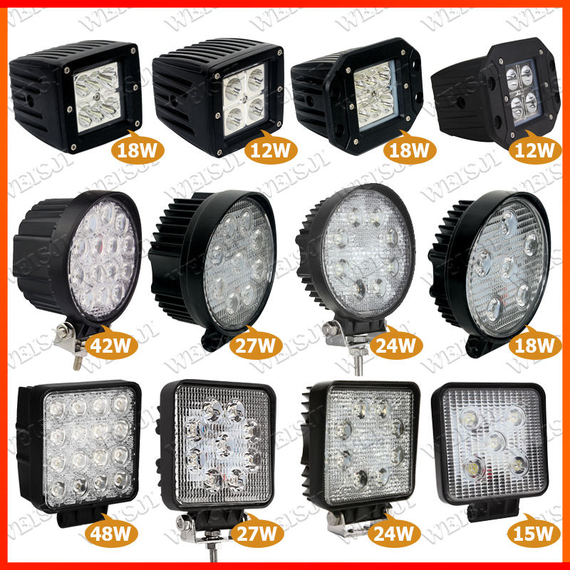 12v 24v led work lamp Various led heavy machinery work light for tractor,forklift,forest,agriculture