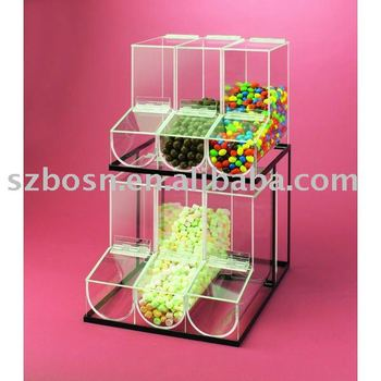 Acrylic Cereal Dispenser,Plexiglass Candy Box,Perspex Nuts Display