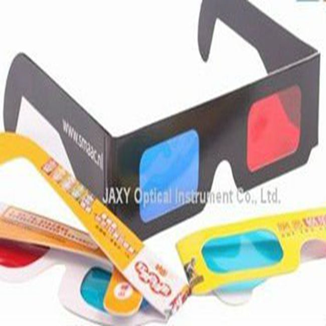 red/blue cyan polarized 3d paper glasses promotional 3d paper glasses