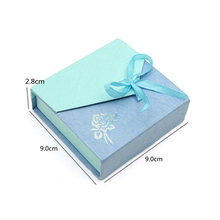 Promotional Light Blue Gift Packing Paper Jewelry Box Hardware