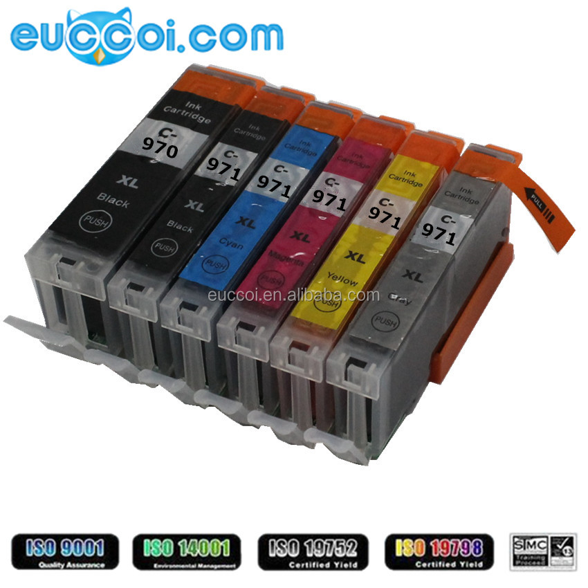 wholesale print inkjet cartridges for Canon PGI-970XL PGBK CLI-971XL BK C M Y GY print ink box compatible for Canon PIXMA MG5790