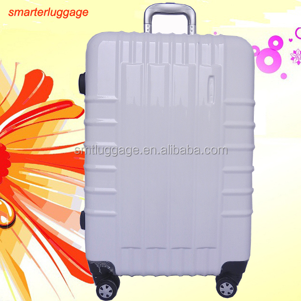 Pure White ABS/PC Luggage for Travelling