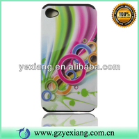 Double Protect Defender Case Cover For Iphone 4 Glossy Colorful