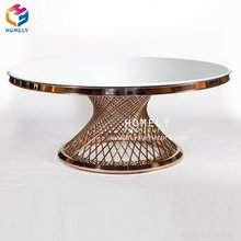 Foshan wholesale round marble top coffee table