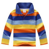 Children Boy 100% Cotton Wear Polo Collar T shirt Long Sleeve For Kids