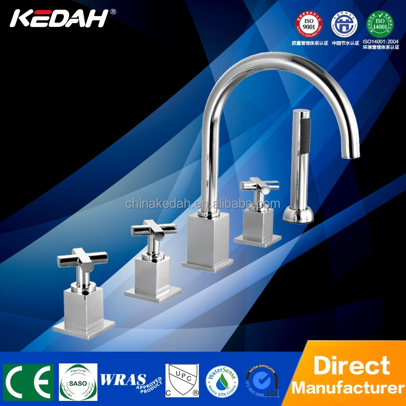 cUPC deck mounted two handle five holes bathtub whirlpool faucet