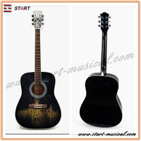 High quality copy global acoustic guitar with accessories