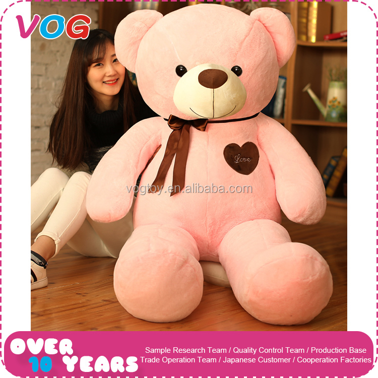 Hot sell fashion custom valentine gifts stuffed fat pink and blue teddy bear cute plush animal toys factory china