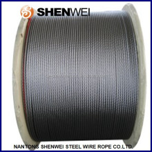 8 strands steel wire rope- black elevator cable