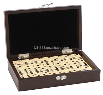 Deluxe Domino Set, Wooden Domino, Ivory Domino in Wooden Box, Double Six Domino with Pin