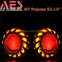 Hot Sale motorbike Projector lens CCFL led angel eye Xenon H1 bulb ballast MT01 led light motorcycle for ford