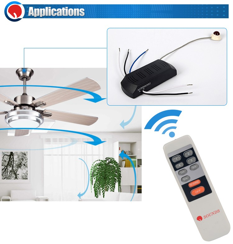 Custom 9 Keys Universal IR Ceiling Fan Remote Controller