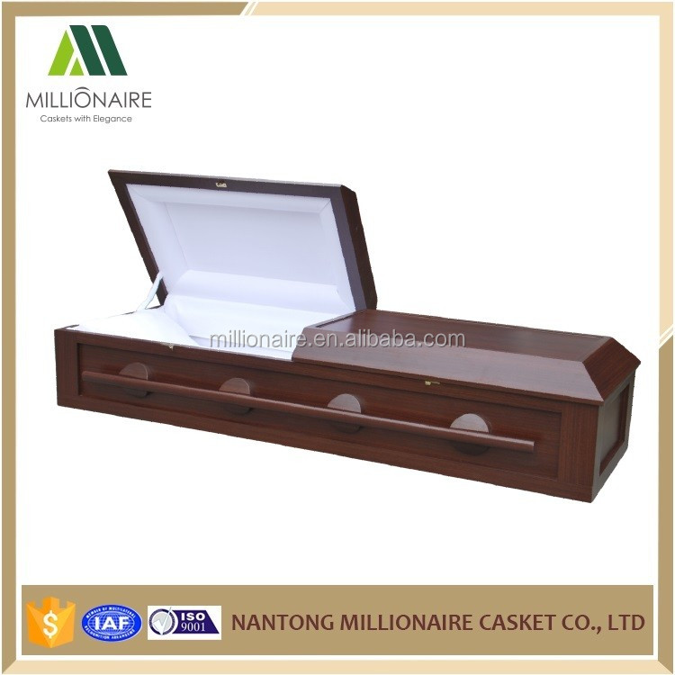mdf wood veneer casket coffin