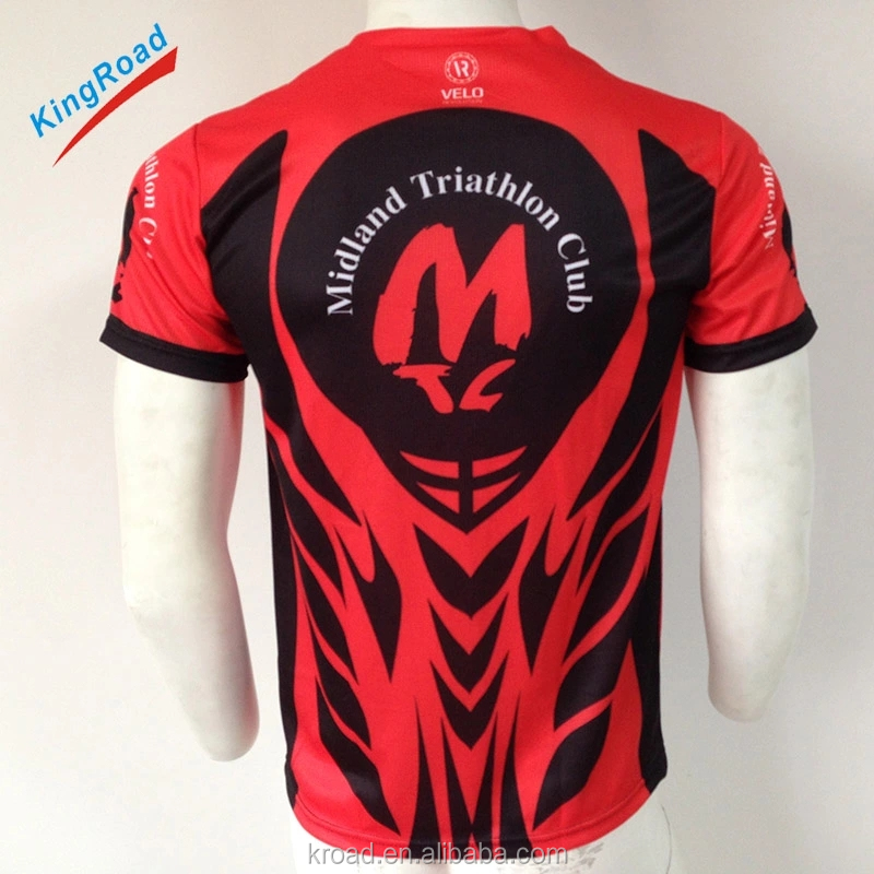 Cheap and high quality custom dye sublimation printing running shirt wholesale