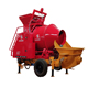 15m3 JPET15 mobile potable concrete mixer pump and concrete pump with mixer for sale with china manufacture