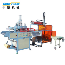 SINOPLAST Automatic PLC Control New Plastic Cup Lids Making Forming Thermoforming Machine