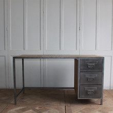 industrial style home office metal frame writing desk