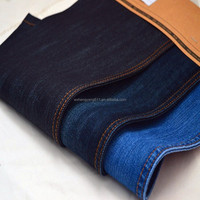 Cotton fabric mercerized denim