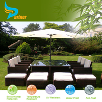 Outdoor Rattan Dining Table and Chairs with Cushions Outdoor Garden Furniture Cheap Table and Chairs for Garden