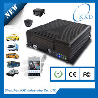 4 channel vehicle surveillance kit with 3G realtime video transmission GPS tracking by google map