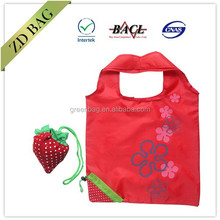 fruit shaped strawberry folding shopping bag