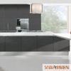 Modern Style Black High Gloss Paint Kitchen Cabinet Wholesaler