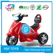 Hot sale comfortable multifunction motorcycle electric car kids with music light