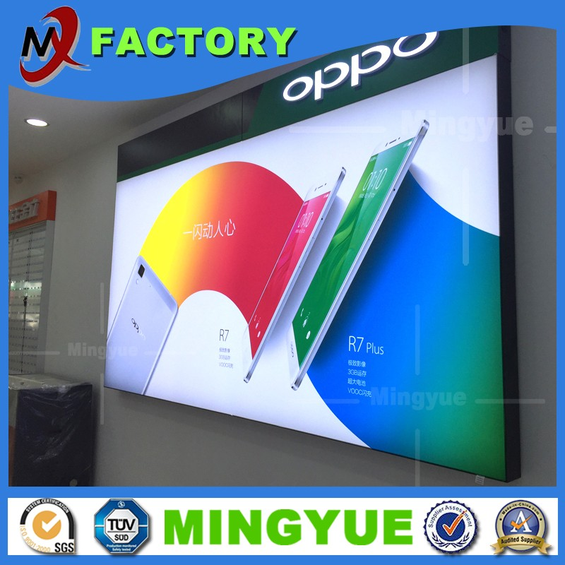 Best Price Alibaba Advertisement light box manufacturers led fabric aluminum snap open frame