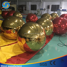 Custom Party Decoration Balloon Gold and Red Color Hanging Inflatable Mirror Ball