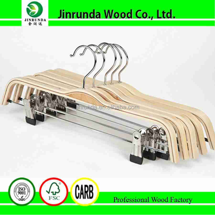 37cm-1.2cm wooden clothes hanger wooden coat hanger for garment