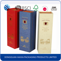 Factory price custom logo folding empty wine glass display box