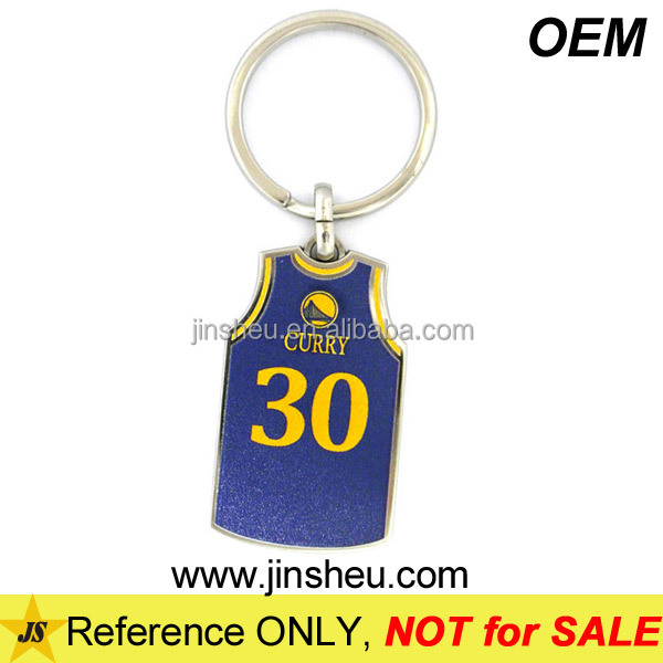 Custom Printing Open Design Basketball Sport Jersey Key Chain