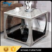 latest design glass top end tables