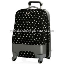 black Printing dot ABS Airport Luggage